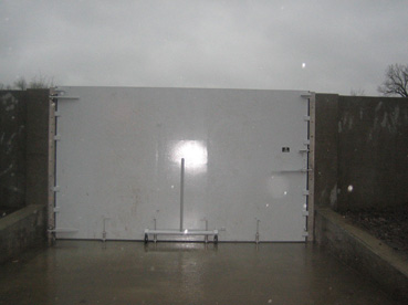 Side Hinged Flood Barrier