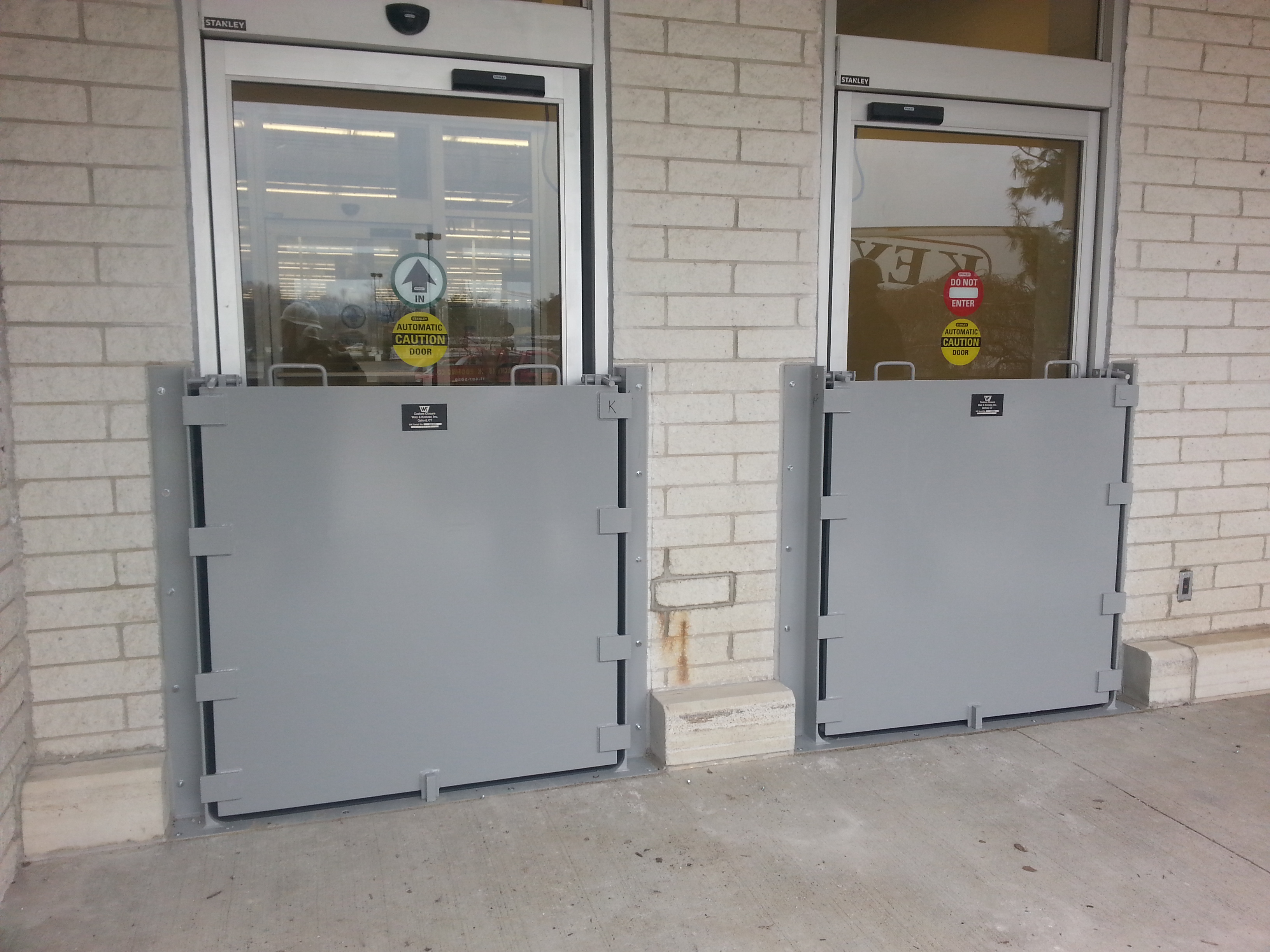 Removable Flood Barriers Walz Amp Krenzer Inc