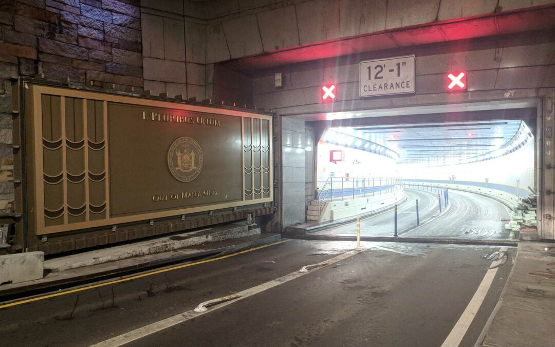 Walz & Krenzer supplied eight 25 ton gates to protect NY City Queens Midtown and Hugh L. Carey Tunnels from flooding